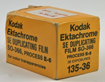 Kodak Ektachrome SE duplicating SO-366 135-36P