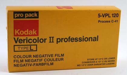 Kodak Vericolor II 120 type L Propack