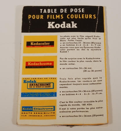 Kodak Table de pose