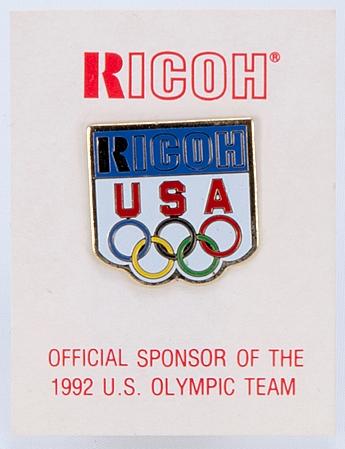Ricoh Pin's équipe USA JO 92