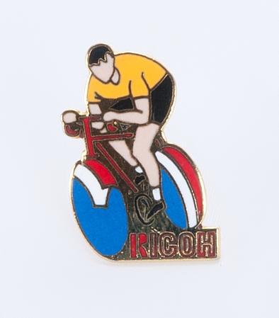 Ricoh Broche coureur cycliste