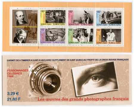 Poste France Carnet 6 timbres La Phographie Française