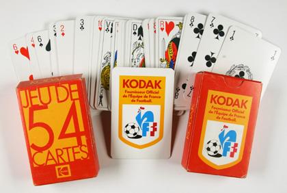 Kodak Jeu de cartes équipe de France de football