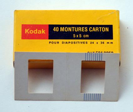 Kodak Montures carton pour diapositives 24 x 36
