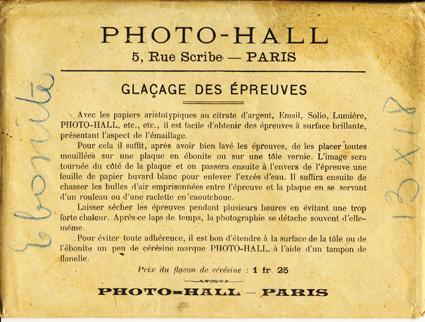 Photo-hall enveloppe