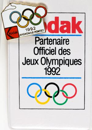 Kodak Porte Badge avec Pin's Alberville 1992