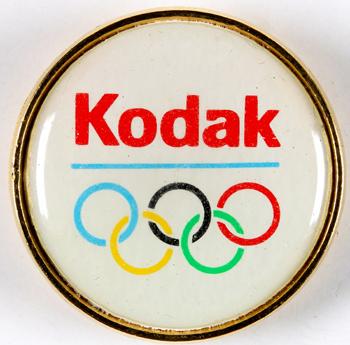 Kodak Pin's logo des Jeux Olympiques