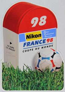 Nikon Carte postale coupe du monde football 1998