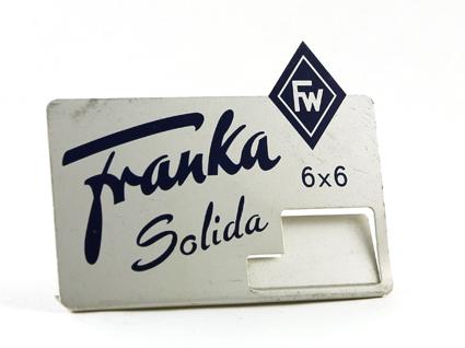 Franka Support d'étiquette pour Solida 6 x 6