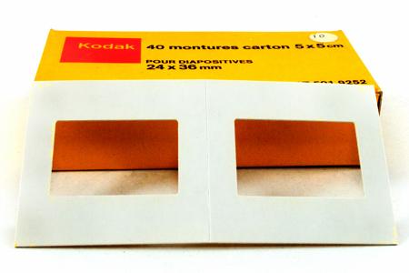 Kodak Montures carton 5 x 5 cm pour diapositives 24 x 36