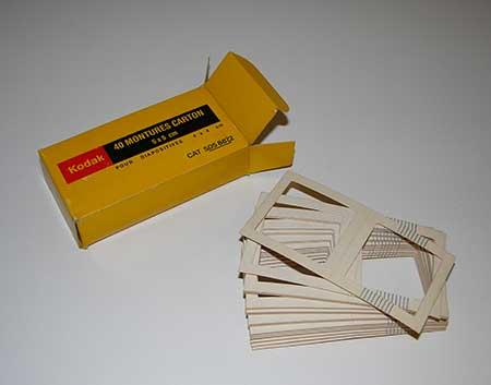 Kodak Montures carton pour diapositives 4 x 4