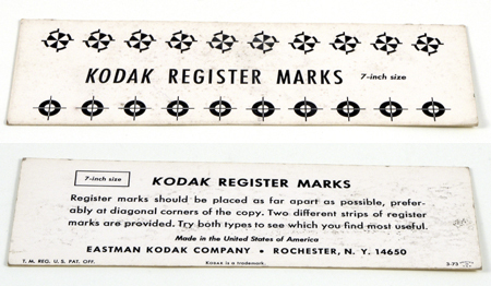 Kodak Register marks