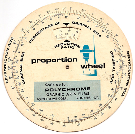 Polychrome Proportion wheel