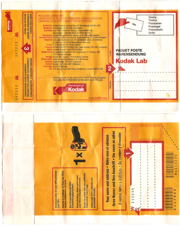 Kodak Kodachrome pochette enveloppe