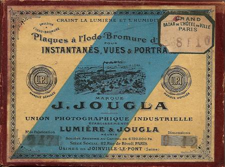 Jougla Plaques 9 x 12 à l'Iodo - Bromure d'Argent