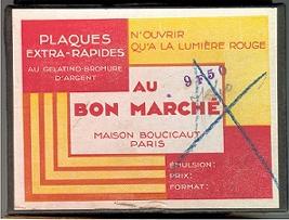 Au Bon Marché Plaques extra-rapides au gelatino-bromure d'argent