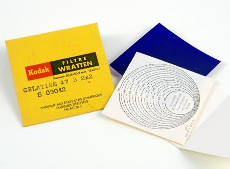 Kodak Filtre en gélatine Wratten bleu