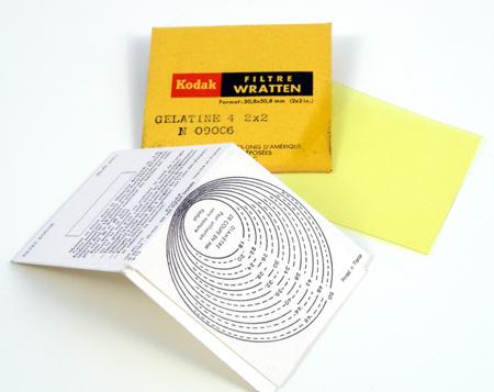 Kodak Wratten Filtre jaune en gélatine
