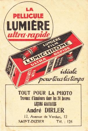 Lumière Pochette retour de laboratoire