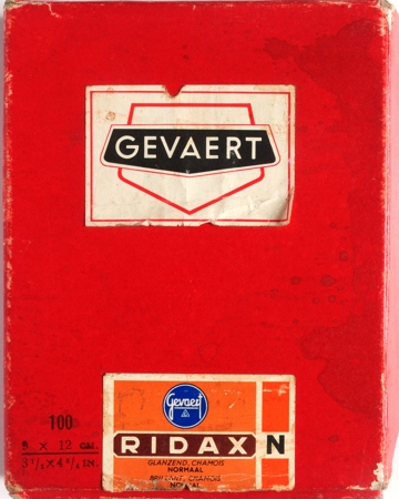 Gevaert Papier Ridax brillant chamois normal 9 x12