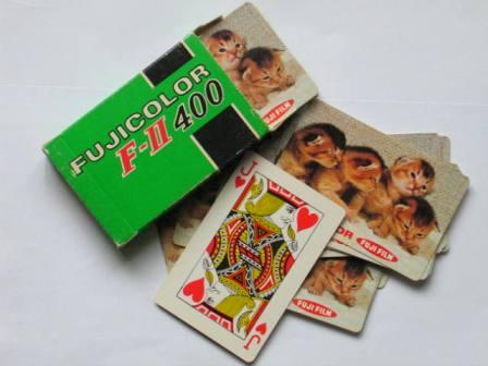 Fuji Jeu de cartes publicitaire