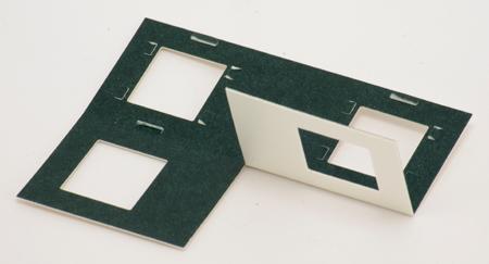 Reel 3-D Cardboard Heat Seal Mounts