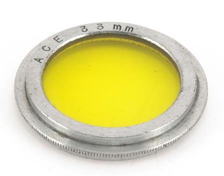 Ace Filtre jaune Ø 33mm coiffant