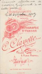 Clayette, C. succ. Verger, G.