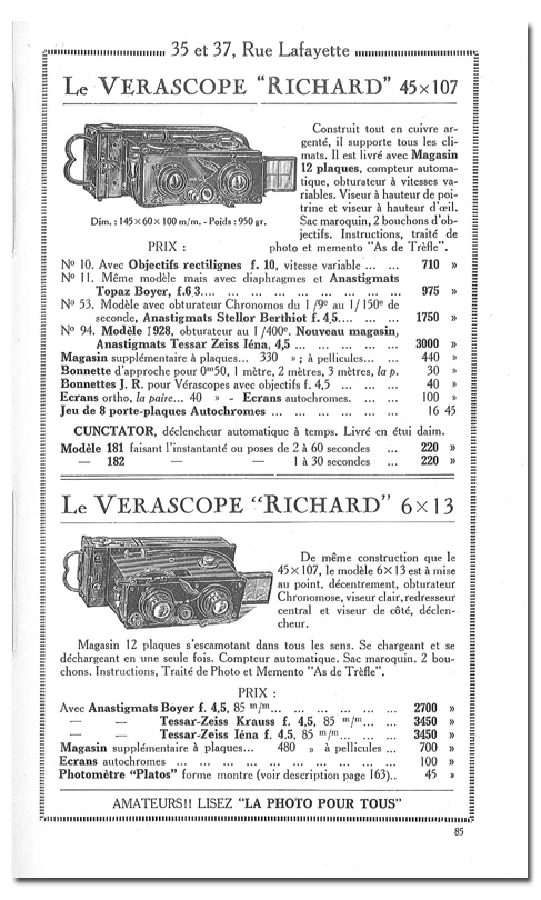 Richard Jules Vérascope n°11
