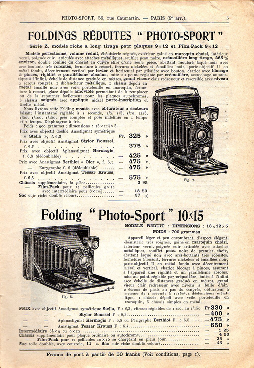 Photo-Sport Folding Réduite 10 x 15