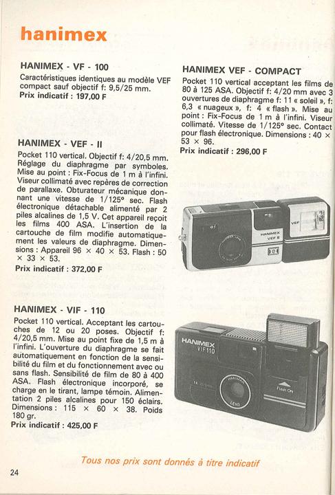 Hanimex VF100 Vintage cameras collection by Sylvain Halgand