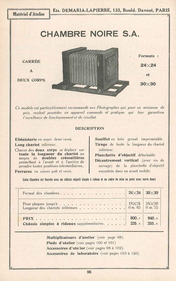 Demaria-Lapierre Chambre Noire S.A.