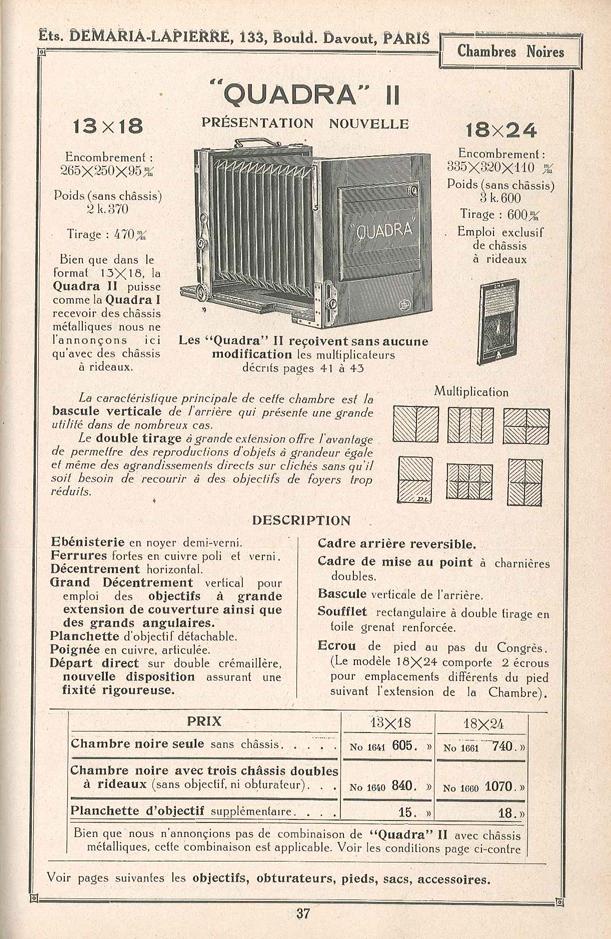 Demaria lapierre chambre quadra ii for Chambre quadra