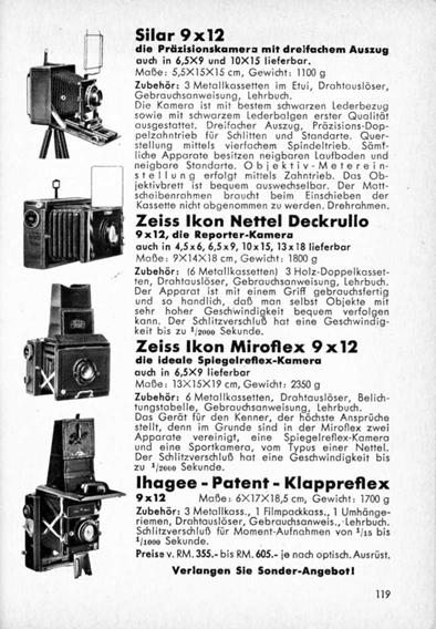 Ihagee Patent Klappreflex