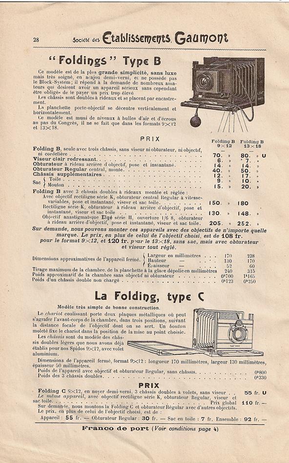 Gaumont Folding Type C