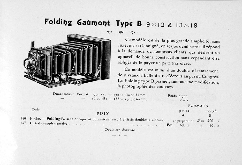 Gaumont Folding Type B