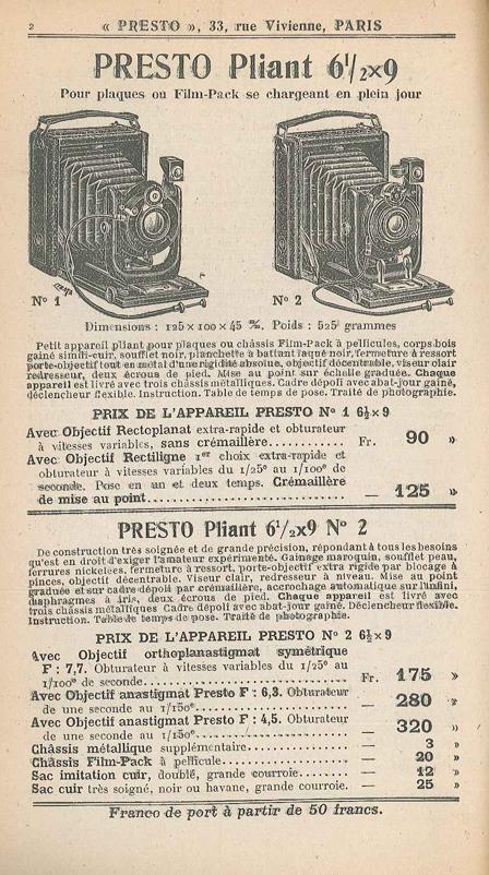 Photo-Presto Presto Pliant n°2