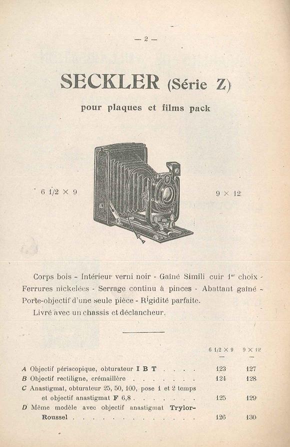 Michel et Paillot Seckler Série Z