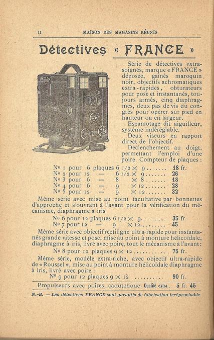 Maison des Magasins Reunis Détective France n°9