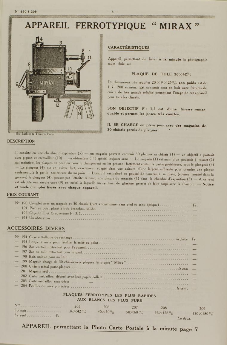 Clement E-G Ferrotype Mirax