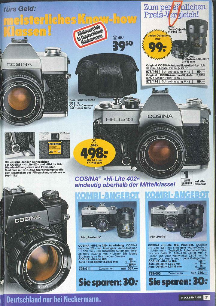 Cosina Hi-Lite 402