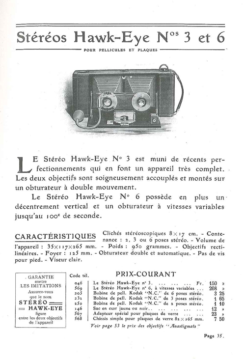 Kodak Stéréo Hawk-Eye n°3