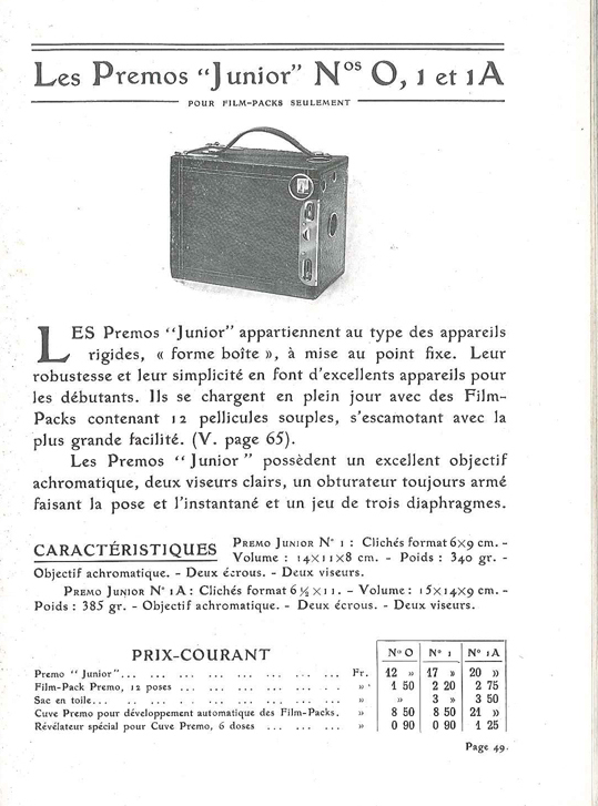 Kodak Premo Junior n°1A