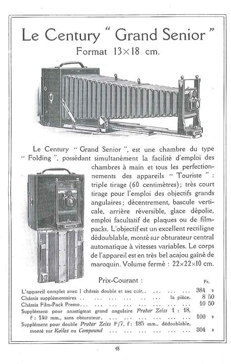 Century Camera Co Grand Senior