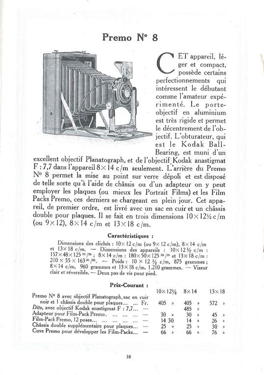 Kodak Premo n°8