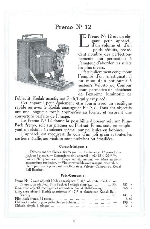 Kodak Premo n°12