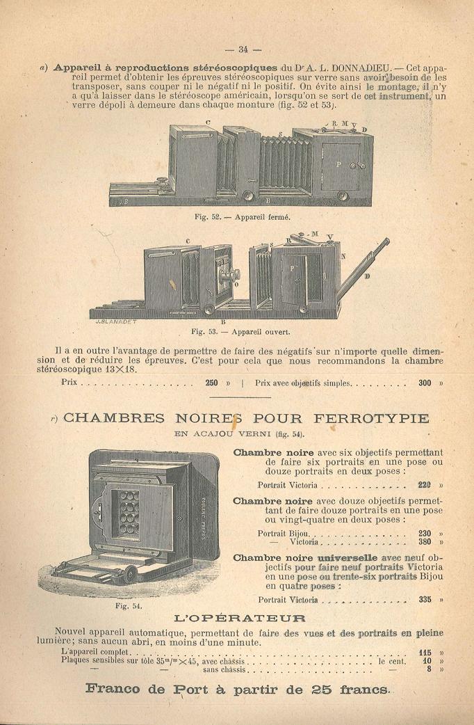 Poulenc Chambre noire pour Ferrotypie