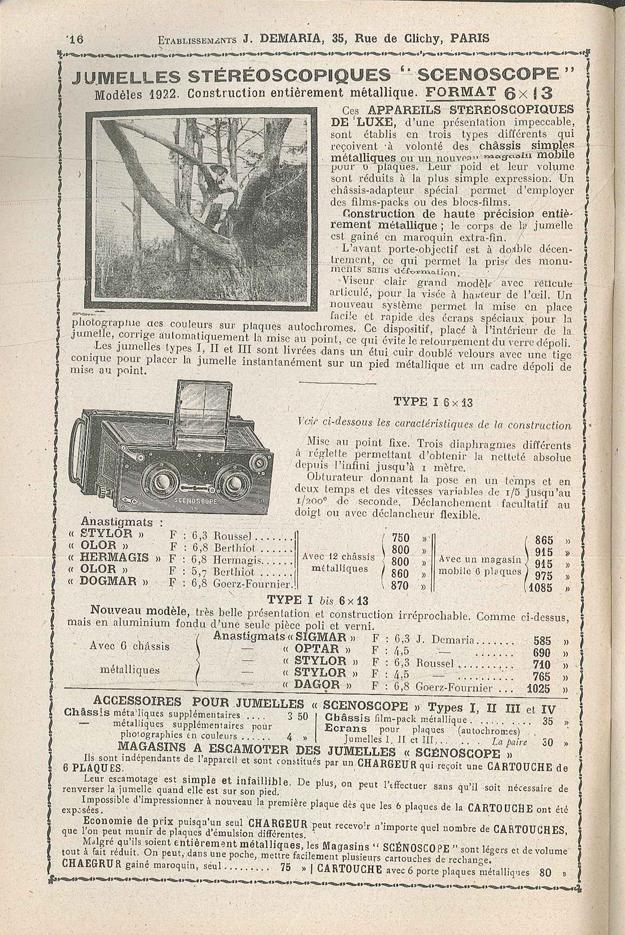 Demaria Jules Scenoscope type I