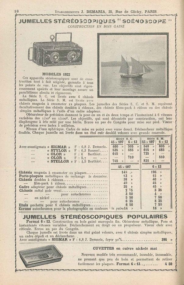 Demaria Jules Scenoscope modèle S