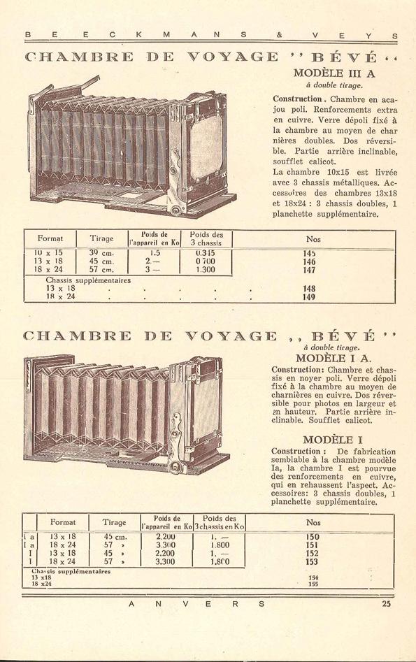 Beeckmans et Veys Bévé modèle I A